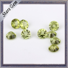 Round Brilliant Natural Peridot Stone Beads