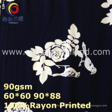 Rayon Flower Printed Fabric for Woman Dress Textile (GLLML443)