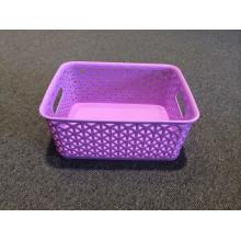 Colorful Woven Plastic Storage Basket