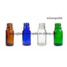 Botellas de vidrio para el aceite esencial, perfume, cosmético con la tapa del gotero