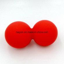 Boules jumelles de caoutchouc de silicone de catégorie comestible adaptées aux besoins du client pour le massage de muscle