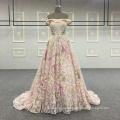 Factory wholesale off shoulder pink A-line Evening Dress BB117
