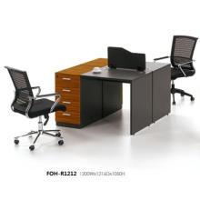 Dunkles Holz Modulare Büro von Angesicht zu Angesicht 2 Personal People Desk mit Low-Screen