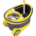 Hot sale magic cleaning spin mop 360 spin mop with two microfiber mop heads