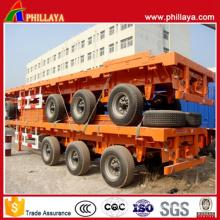 Phillaya Brand Tri-Axle Container Semi-Trailer Flatbed