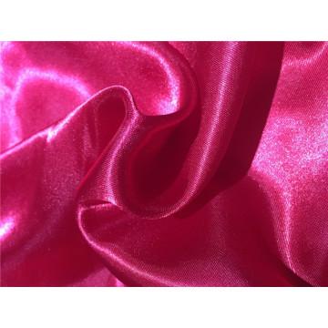 Tissu en satin brillant à base de polyester satiné