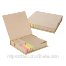 memo pad with cover with book marker,sticky notes,self adhesive memo papers