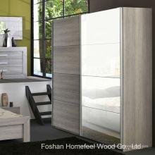Спальня Организованный 2-дверный зеркальный скользящий шкаф (WB69)