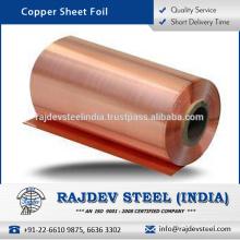 Folha de folha de cobre com excelente resistência e eficiência de vida útil prolongada