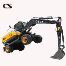excavadora pequeña 8T 0.28 m³ excavadora de rueda de cangilones
