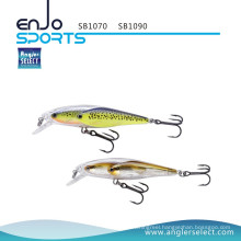 Angler Select School Fish Stick Bait Shallow Lure Fishing Tackle with Vmc Treble Hooks (SB1090)