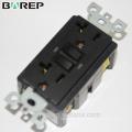 UL listed Barep 20A 125V, Tamper Resistant GFCI Outlet, white gfci 20A