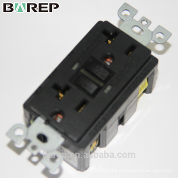 UL перечислил Barep 20А 125В, взломостойкими выходом gfci, белый УЗО 20А