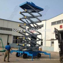Andamios hidraulicos con cuatro ruedas para elevador de tijera para trabajo en cielo alto