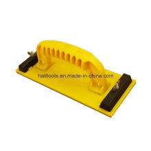 Punho plástico de cor amarela bloco de lixamento