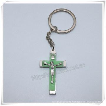 Cross Key Chain, Manufactory Production Cheap Metal Cross Keyring, Cross Key Chains, Cross Keychain (IO-ck105)