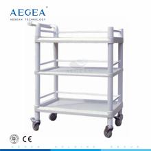 AG-UTB06 abs langlebige Krankenhaus drei Schichten Kunststoff Utility Cart