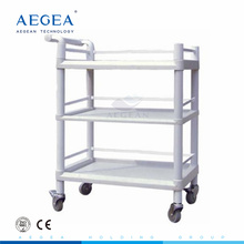 AG-UTB06 abs durable hospital three layers plastic utility cart