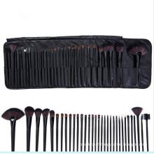 32PCS Professional Cosmetic Brush Set with Black PU Leather Bag