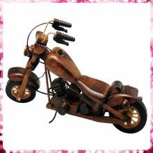 Modelo de moto memorável de madeira para decoração de casa