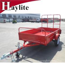powder coating farm trailer box trailer red color