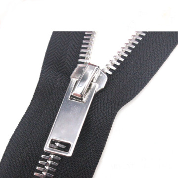 Heavy Duty Metal Zipper in Stainless Steel