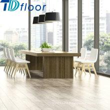 Plancher en vinyle de vinyle de dos sec commercial en bois naturel de chêne