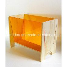 Nützliche Acryl Display Stand / Ausstellung für Magazine, Buch etc