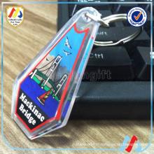 Porte-clés en verre transparent acrylique personnalisé