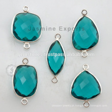 Fine Quality Natural Semi Precious Bezel Setting Links Bezel Gemstone Jewelry for Women