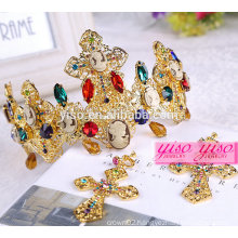 hot sale king fashion metal princess hair accessories crown