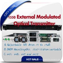 Hfc Network 1550nm Fibra Óptica Transmissor Transmissor Modulado Externamente