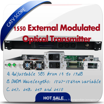 Transmetteur à modulation externe de classe supérieure 1550 DWDM