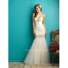 2016 Новая Мода Вышивка Из Бисера Органзы Русалка Свадебное Платье Свадебное