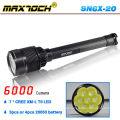 Maxtoch SN6X-20 grande poder recarregável 7 LED Lanterna Solar