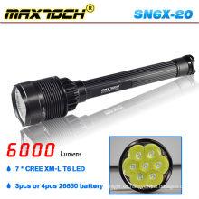 Maxtoch SN6X-20 gran potencia recargable 7 LED linterna Solar