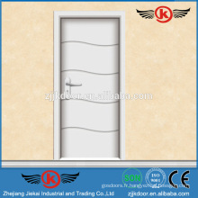 JK-P9217 Portes laminées blanches en bois au style brésilien pour armoire de cuisine