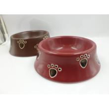 Plato de cerámica del gato