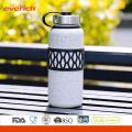 Doble pared de acero inoxidable vacuna 32 oz botella de agua con manga colorida