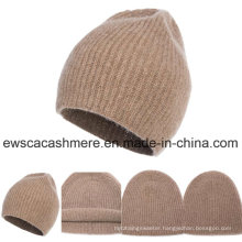 Men′s Top Grade Rib Cashmere Hat A16mA4-001