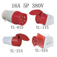 16А кабель 5pin промышленные штепсельная вилка и гнездо