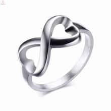 Na moda de aço inoxidável das mulheres Infinito Design Anéis Jóias