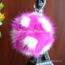 Viele Farben Fluffy Schlüsselanhänger