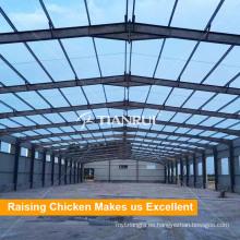 Edificio prefabricado de estructura de acero de granja avícola