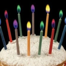 Magic Colorful Flame Birthday Taper Candle