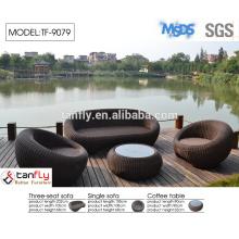 fashion rattan sofa sets outdoor semi circle furniture