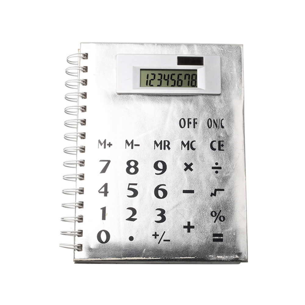 Multi function Solar Power Coil Notebook Calculator