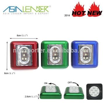 5LED квадратных формы светодиодные Push Light