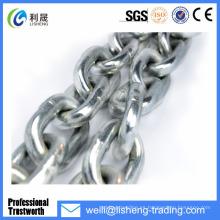 DIN766 Hierro galvanizado cadenas de enlace de acero corto