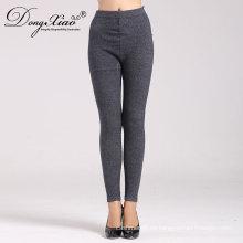 pantalones tejidos al por mayor de la cachemira de la pierna recta